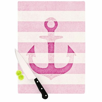 KESS InHouse Stone Vintage Anchor Cutting Board