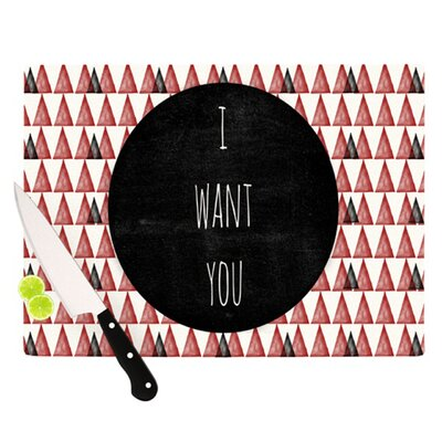 KESS InHouse I Want You Cutting Board