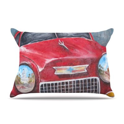 KESS InHouse Vintage in Cuba Fleece Pillow Case