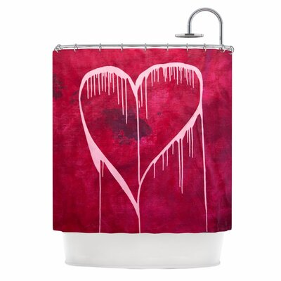 KESS InHouse Miss You Polyester Shower Curtain