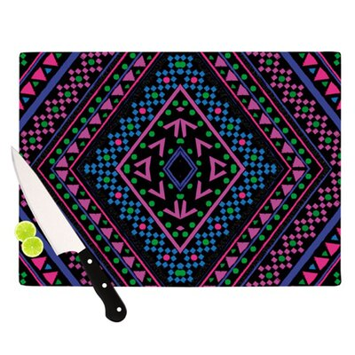 KESS InHouse Neon Pattern Cutting Board