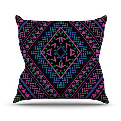 KESS InHouse Neon Pattern Throw Pillow