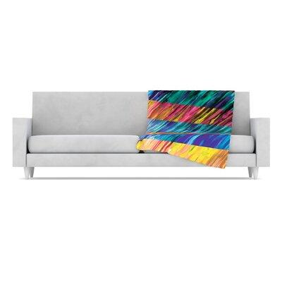 KESS InHouse Set Stripes I Fleece Throw Blanket