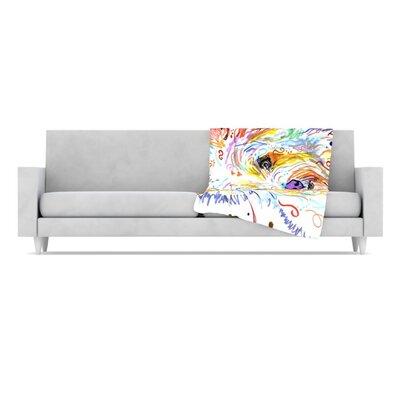 KESS InHouse Bella Fleece Throw Blanket