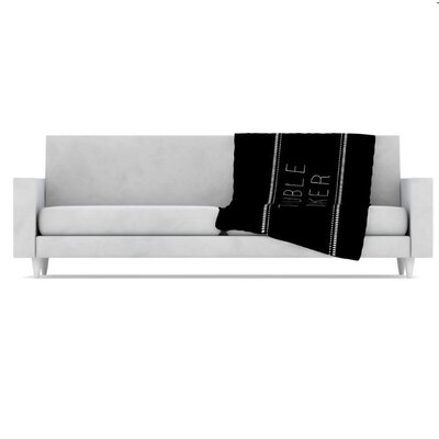 KESS InHouse Trouble Maker Fleece Throw Blanket