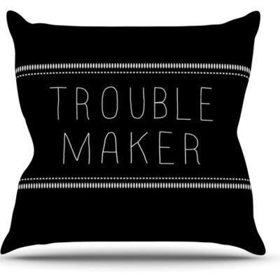 KESS InHouse Trouble Maker Throw Pillow