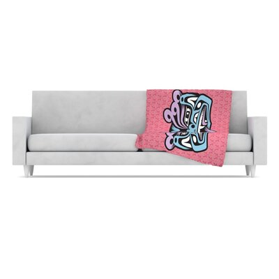 KESS InHouse Fu Dog Fleece Throw Blanket