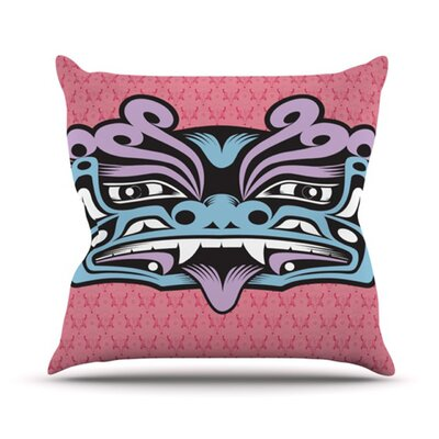 KESS InHouse Fu Dog Throw Pillow