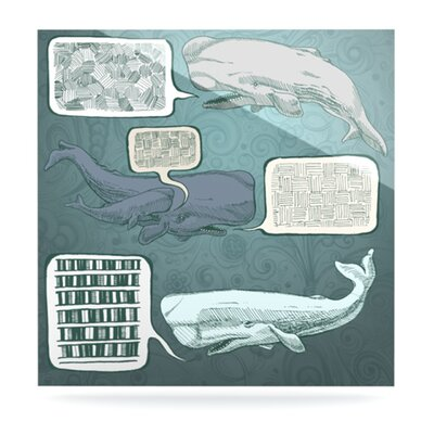 KESS InHouse Whale Talk by Sophy Tuttle Graphic Art Plaque