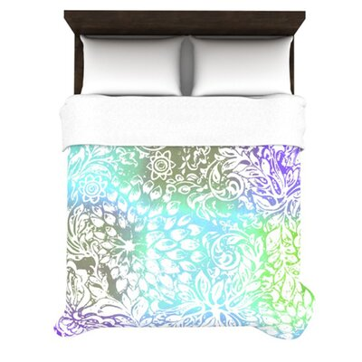 KESS InHouse Blue Bloom Softly for You Duvet Cover Collection