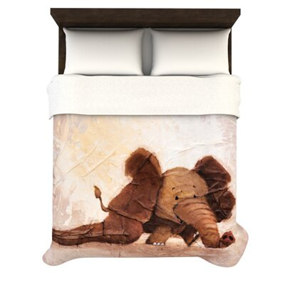 KESS InHouse The Elephant with the Long Ears Duvet Cover Collection