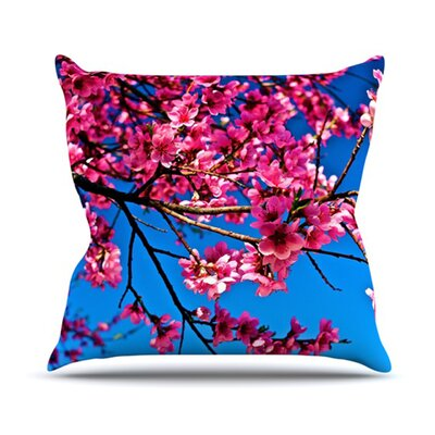 KESS InHouse Flowers Throw Pillow