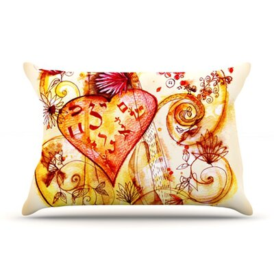 KESS InHouse Tree of Love Fleece Pillow Case