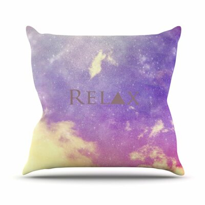 KESS InHouse Relax Throw Pillow