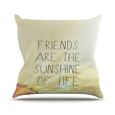 KESS InHouse Friends Sunshine Throw Pillow
