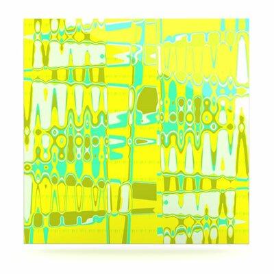 KESS InHouse Changing Gears in Sunshine by Vikki Salmela Painting Print Plaque