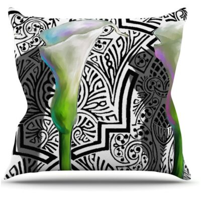 KESS InHouse Three Lily Throw Pillow