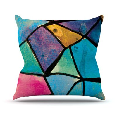 KESS InHouse Stain Glass 2 Throw Pillow