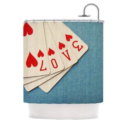KESS InHouse Love Polyester Shower Curtain