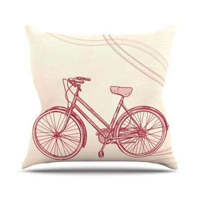 KESS InHouse Bicycle Throw Pillow