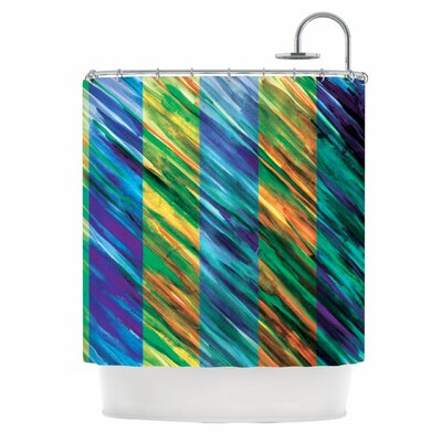 KESS InHouse Set Stripes II Polyester Shower Curtain