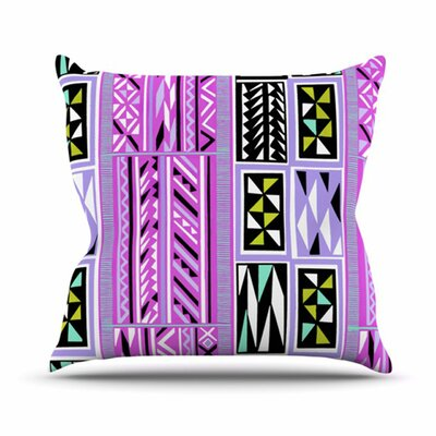 KESS InHouse American Blanket Pattern II Throw Pillow