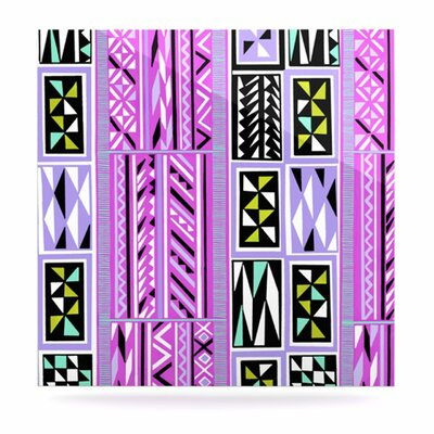 KESS InHouse American Blanket Pattern II Floating Art Panel