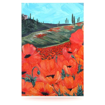 KESS InHouse Poppies Floating Art Panel