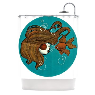 KESS InHouse Goldfish Polyester Shower Curtain