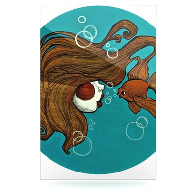 KESS InHouse Goldfish Floating Art Panel