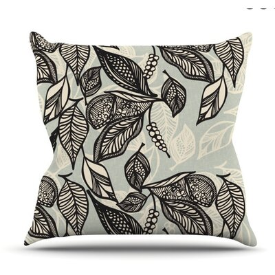 KESS InHouse Java Leaf Throw Pillow