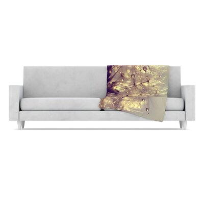 KESS InHouse Sparkles of Gold Microfiber Fleece Throw Blanket