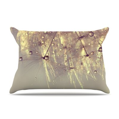 KESS InHouse Sparkles of Gold Microfiber Fleece Pillow Case