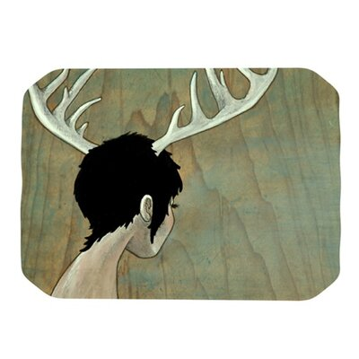KESS InHouse Antlers Placemat