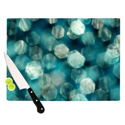 KESS InHouse Shades of Blue Cutting Board