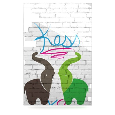 KESS InHouse Elephants Floating Art Panel