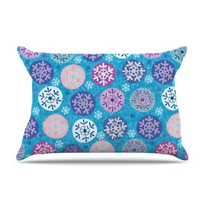 KESS InHouse Floral Winter Microfiber Fleece Pillow Case