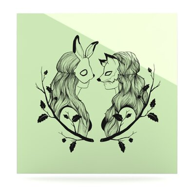 KESS InHouse Foxy Buns by Jaidyn Erickson Graphic Art Plaque
