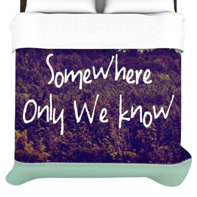 KESS InHouse Somewhere Duvet Cover