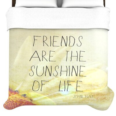 KESS InHouse Friends Sunshine Duvet Cover