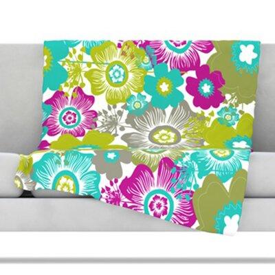 KESS InHouse Little Bloom Fleece Throw Blanket