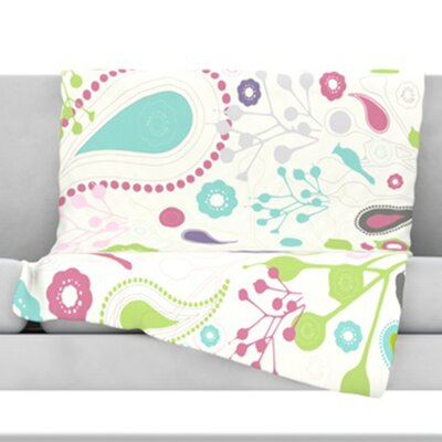 KESS InHouse Bird Song Fleece Throw Blanket