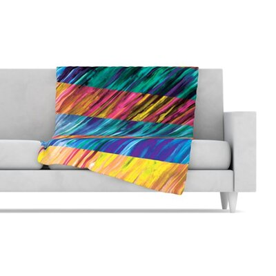 KESS InHouse Set Stripes I Fleece Throw Blanket