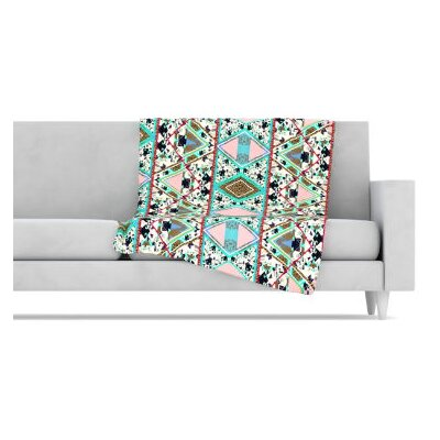 KESS InHouse Deco Hippie Fleece Throw Blanket