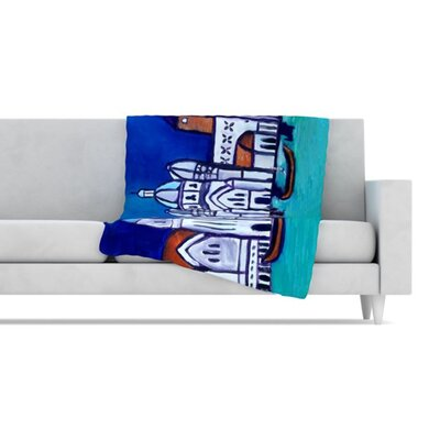 KESS InHouse Venice Fleece Throw Blanket
