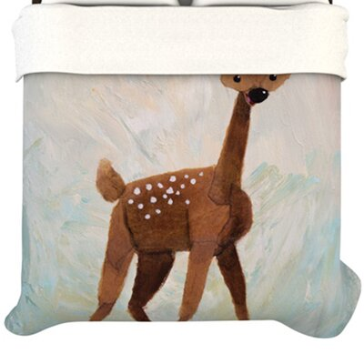KESS InHouse Oh Deer Fleece Duvet Cover