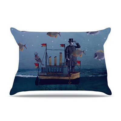 KESS InHouse The Voyage Fleece Pillow Case