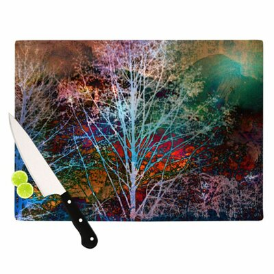 KESS InHouse Trees in the Night Cutting Board