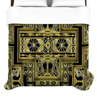 KESS InHouse Golden Art Deco Duvet Cover