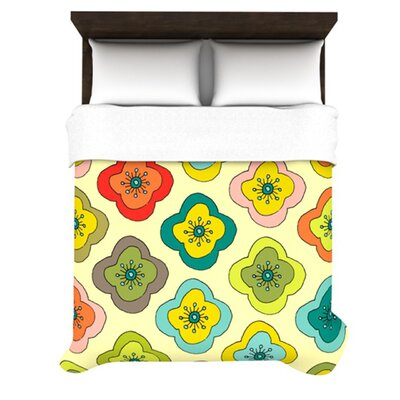 KESS InHouse Forest Bloom Duvet Cover